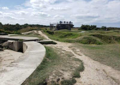 The bomb craters at Pointe Du Hoc.